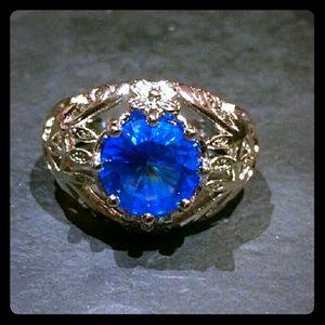 Jewelry - Sterling Silver Aqua Blue Ring